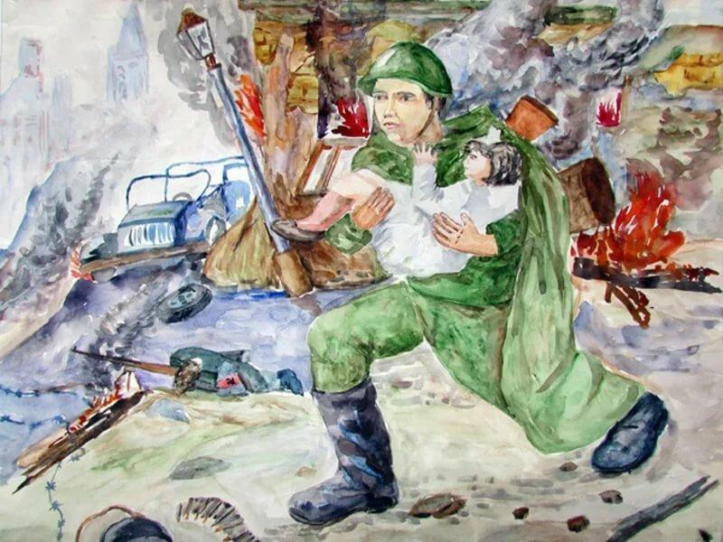 Картинки войны от руки