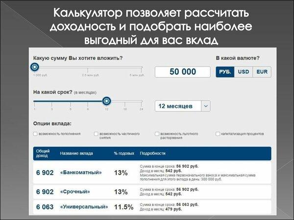 почта банк официальный рассчитать кредит