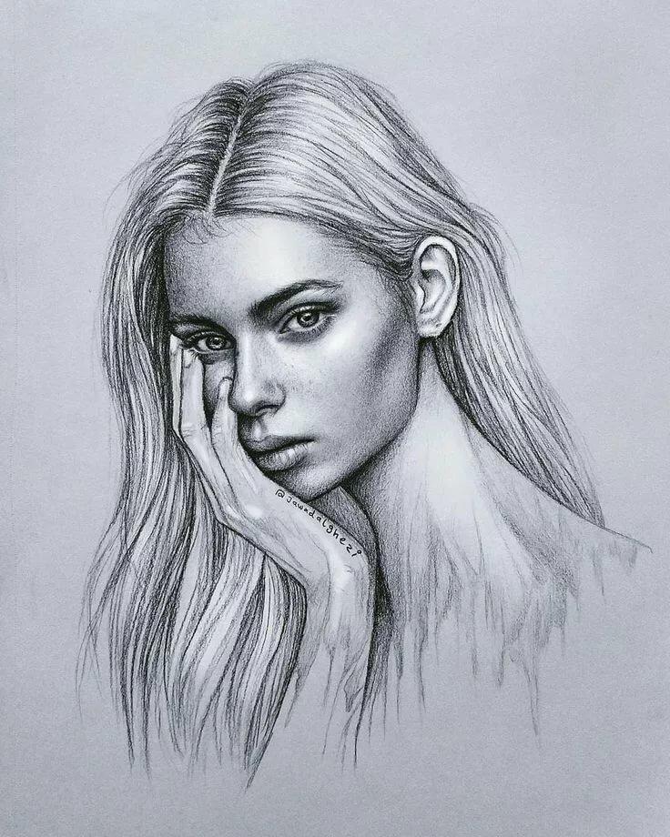 Рисунки карандашом девочки картинки