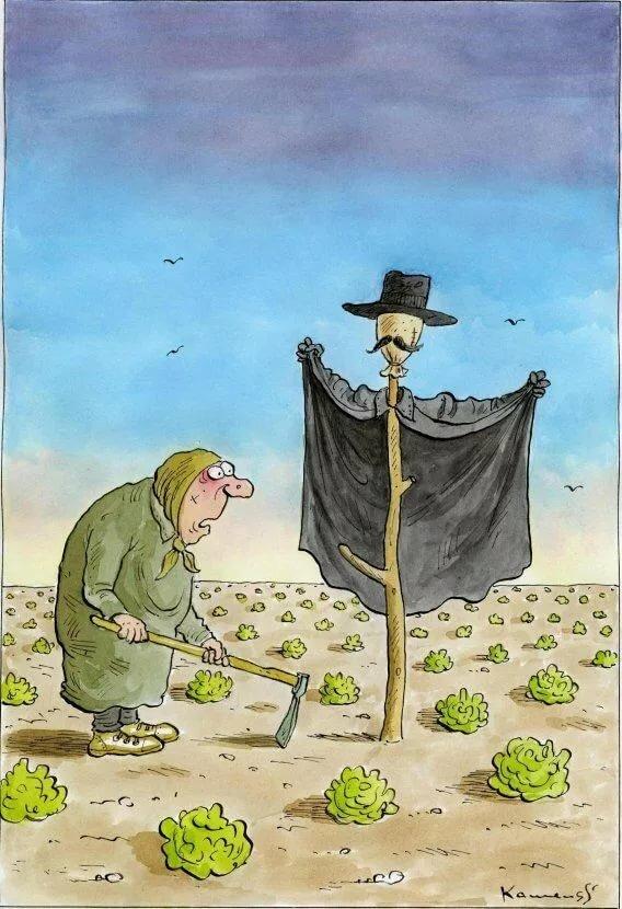 Смешные рисунки про садоводов
