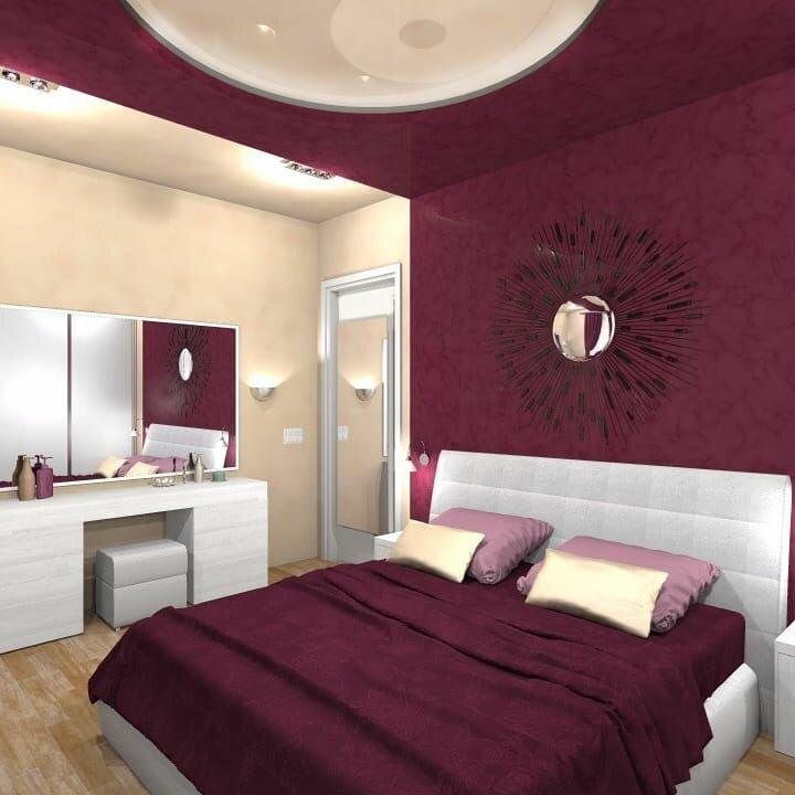 спальня бордовая картинки