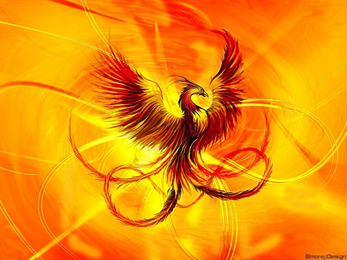 Птица феникс открытки, открытки марта своими