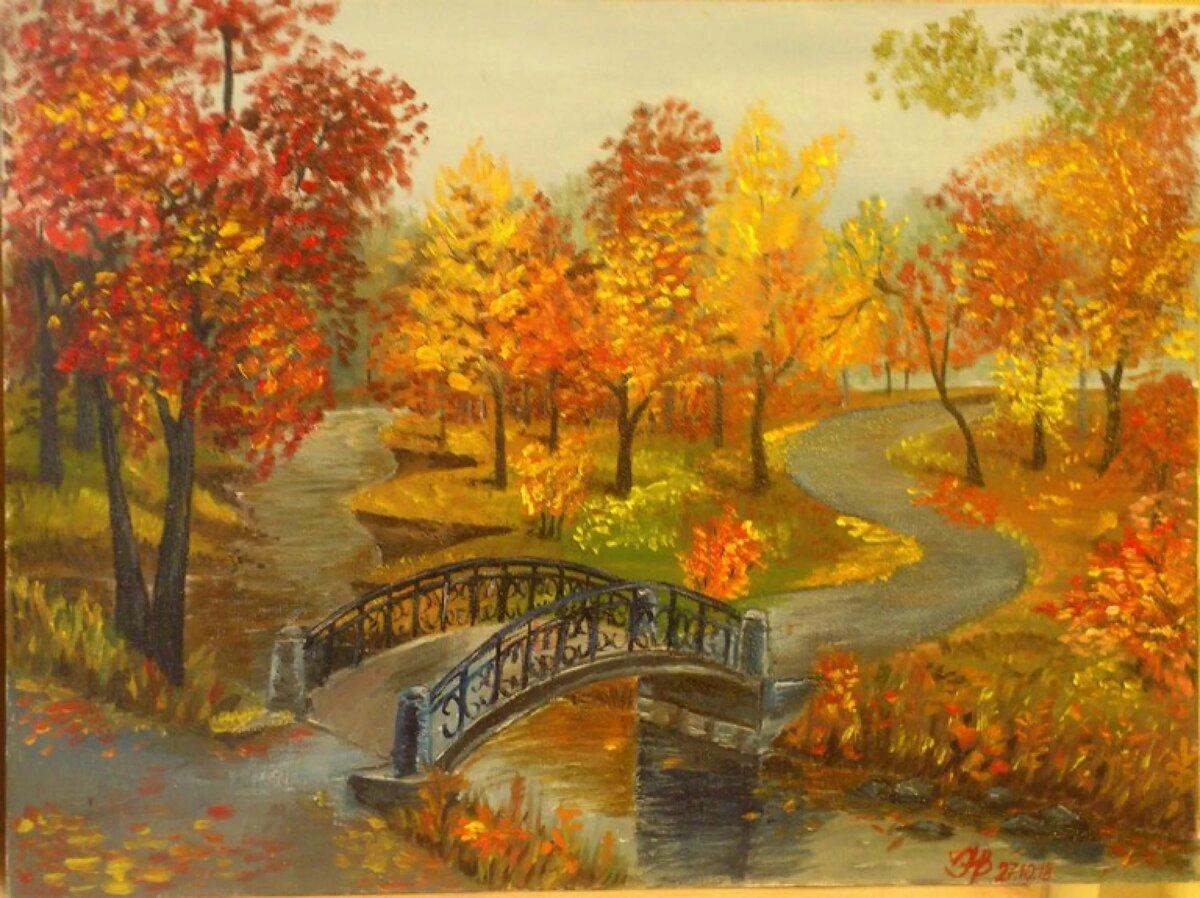 пейзажи в картинках про осень можно подвесить стене