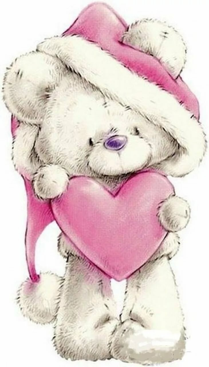 Картинки мишки и зайчики с сердечками