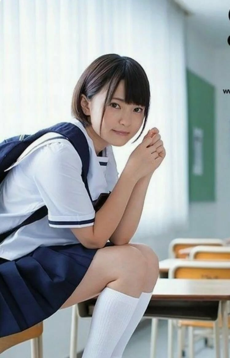 Asian uniform touch girl guy