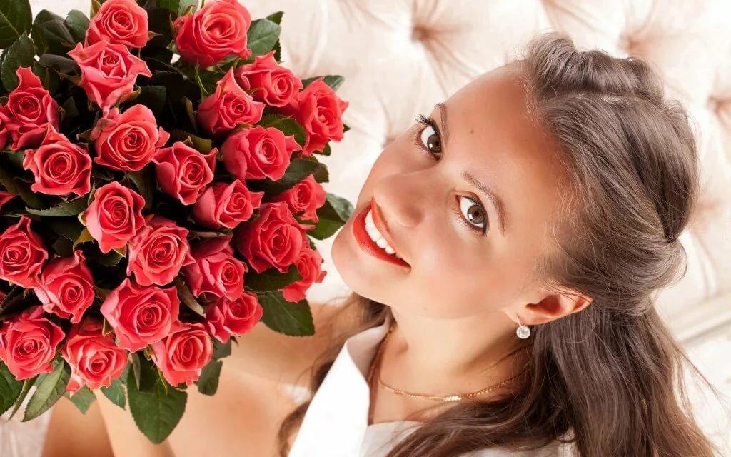 Для, открытка с цветком девушке