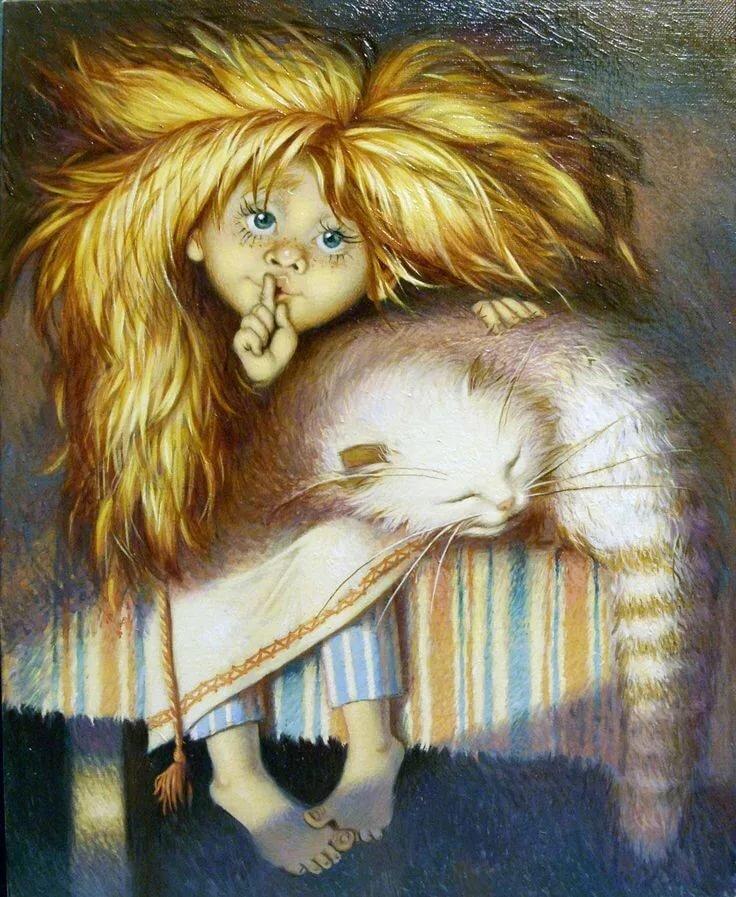 Прикольные рисунки художников спокойной ночи, ручной работы картинки