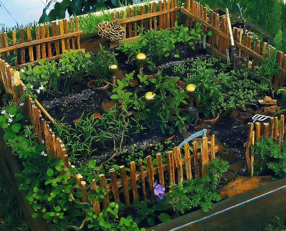 Украшаем огород в картинках