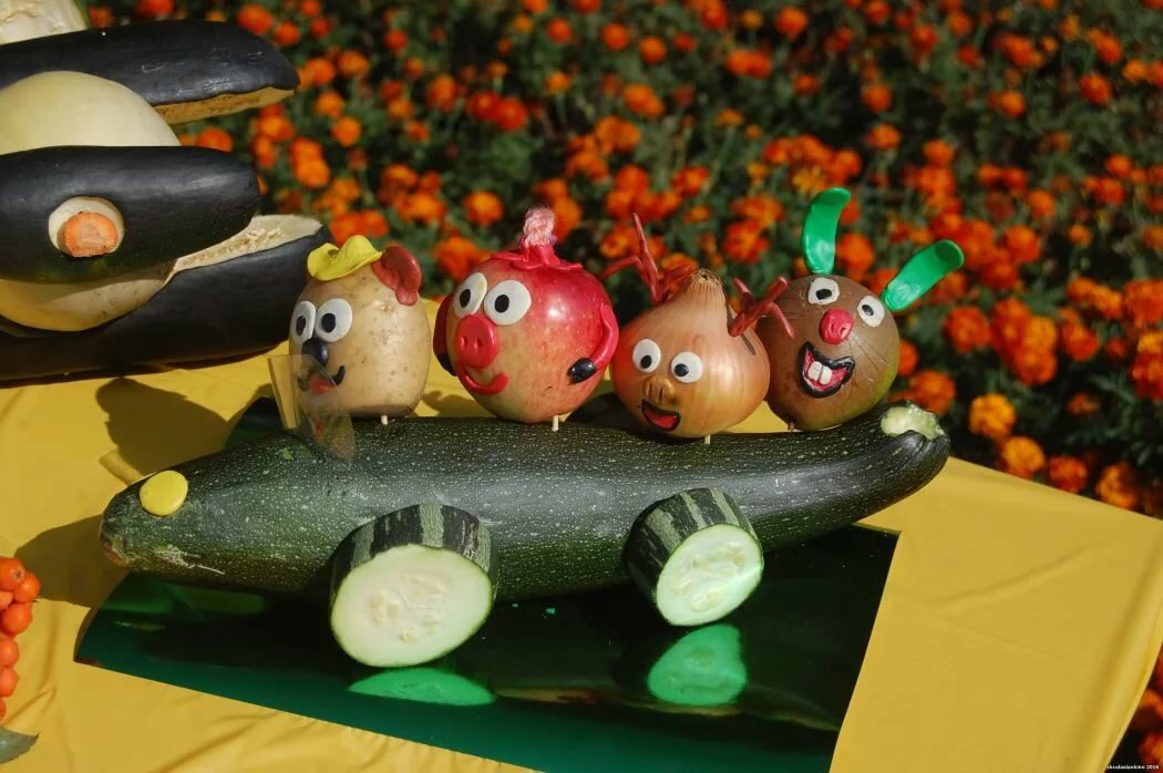 данном материале картинки из овощей своими руками сегодня живут эти
