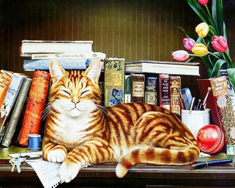 Картинки кошек из книг