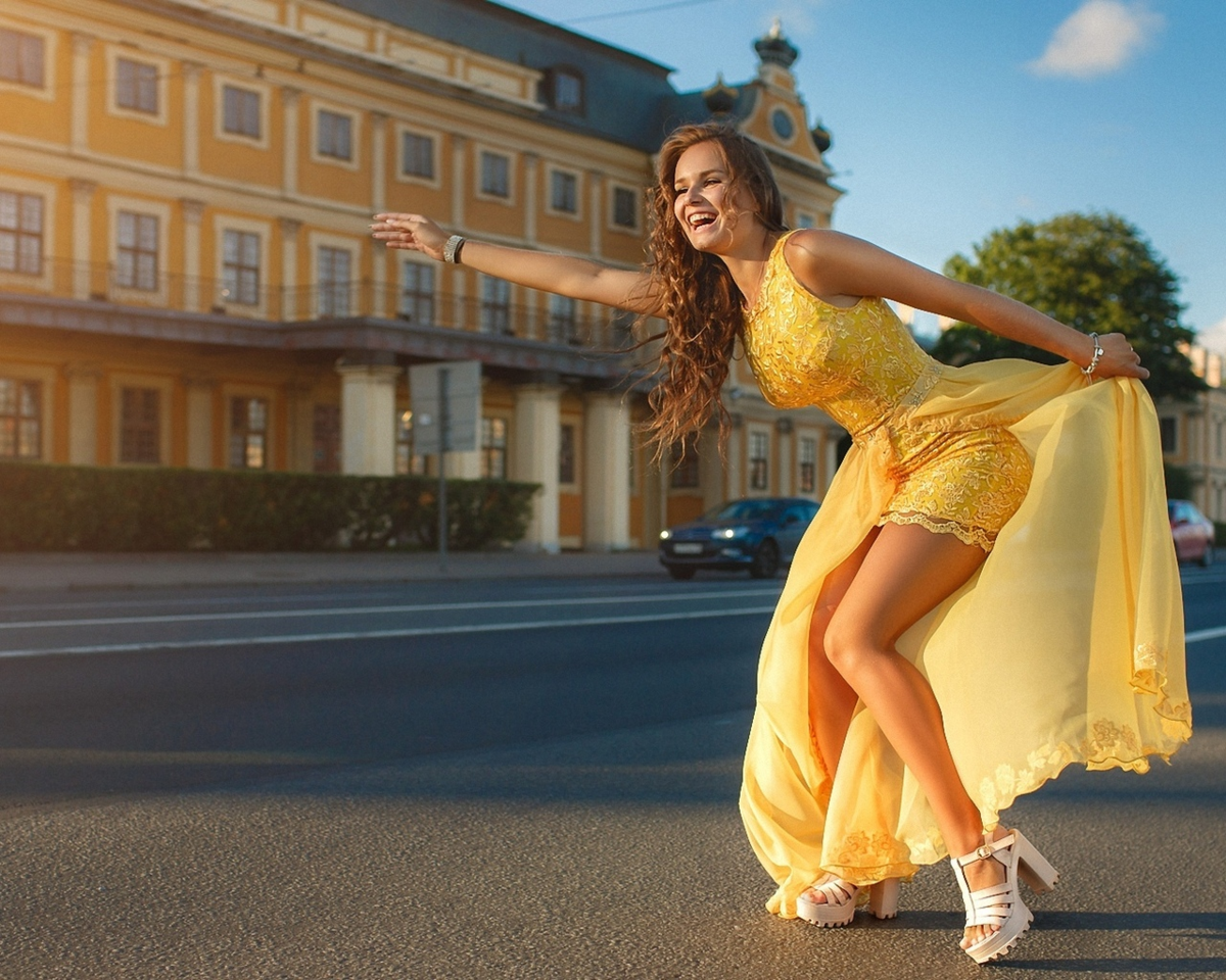 Фотосессия моделей россии на улице