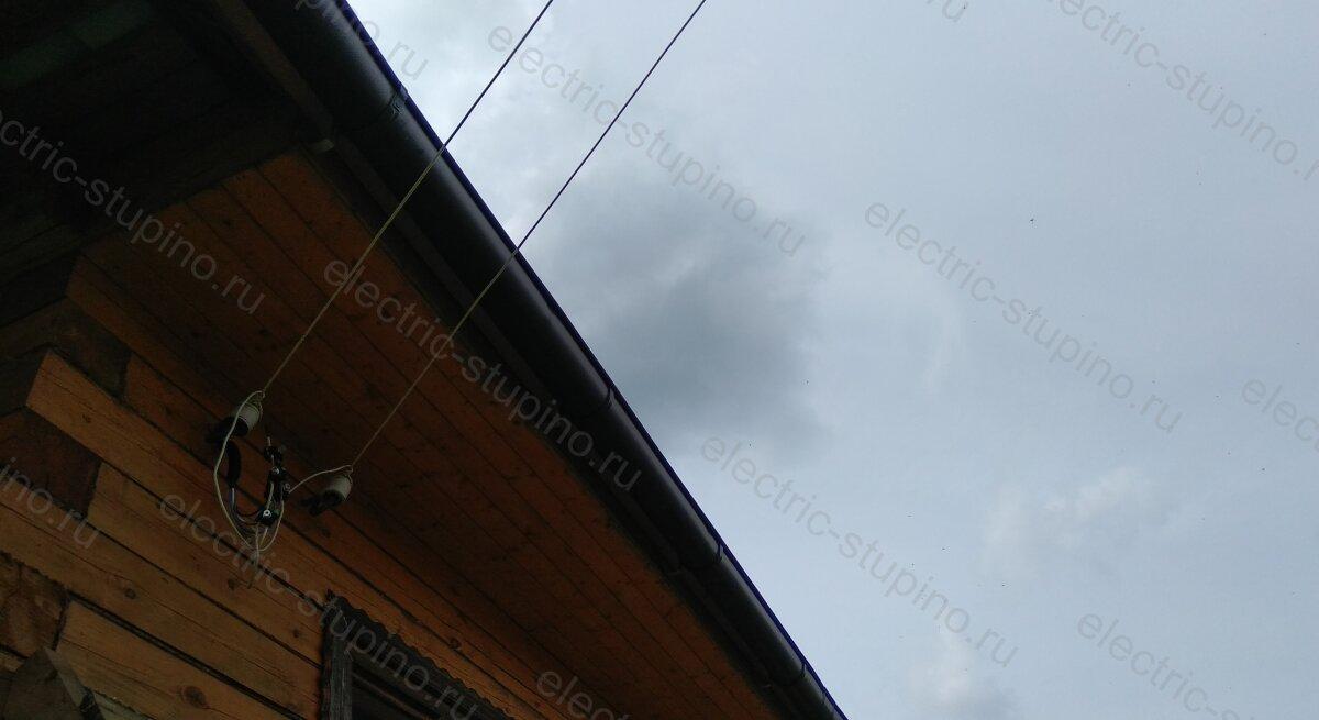 Электропроводка в деревянном доме вводной кабель