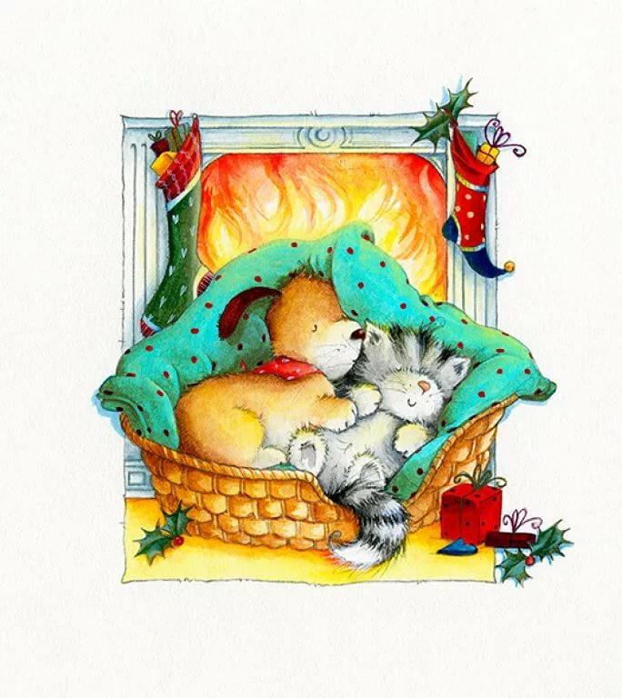 Спящие животные картинки нарисованные, картинки про