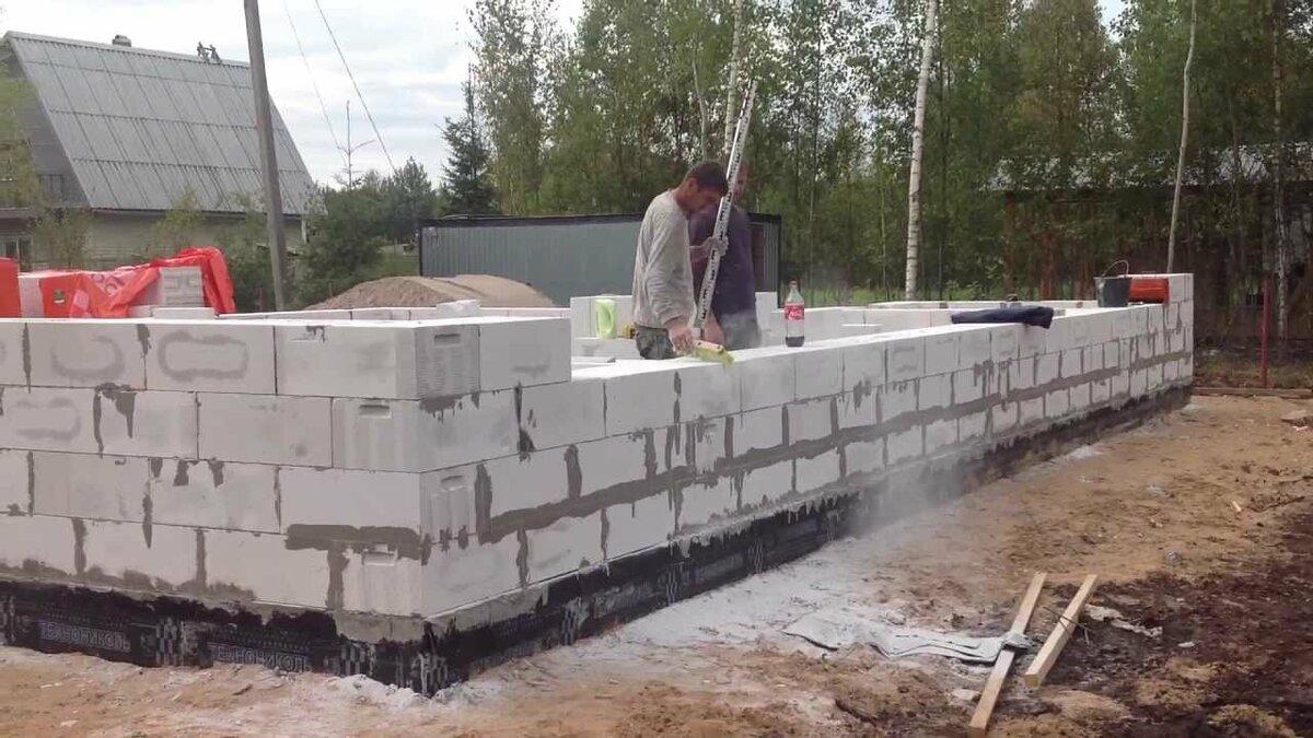 сколько стоит построить коробку из газобетона