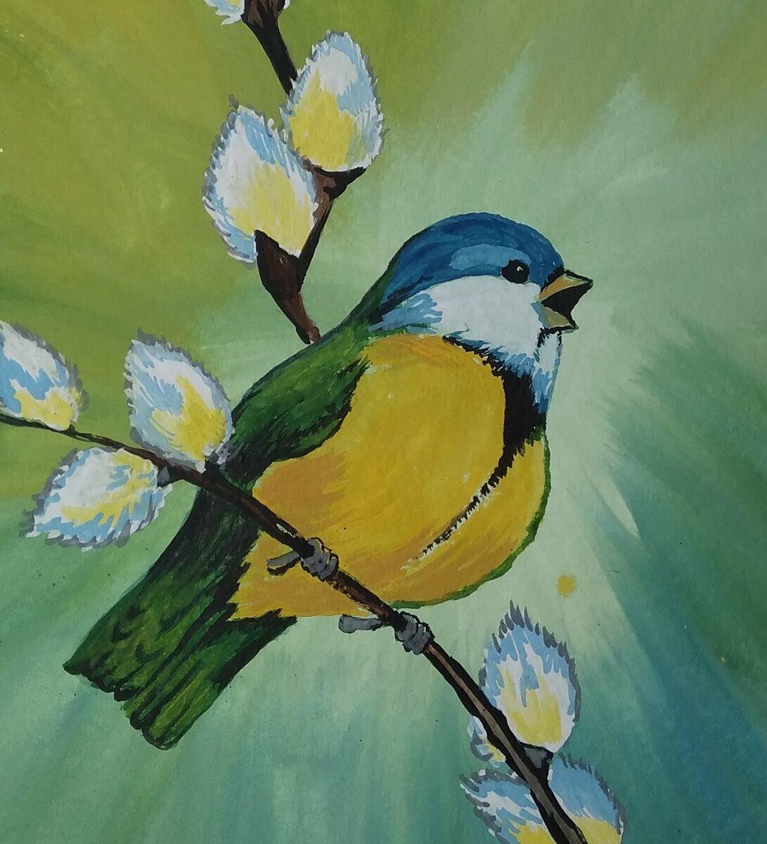 влияние картинки на тему весна синичка старинный, нтикварный