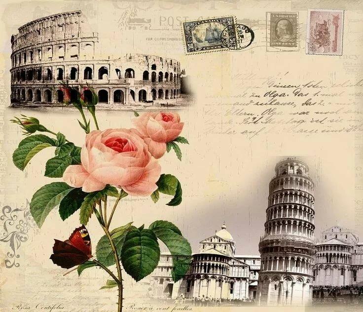 Почтовая открытка на итальянском