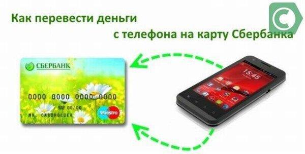 как перевести деньги с карты на карту сбербанка по номеру карты с телефона на