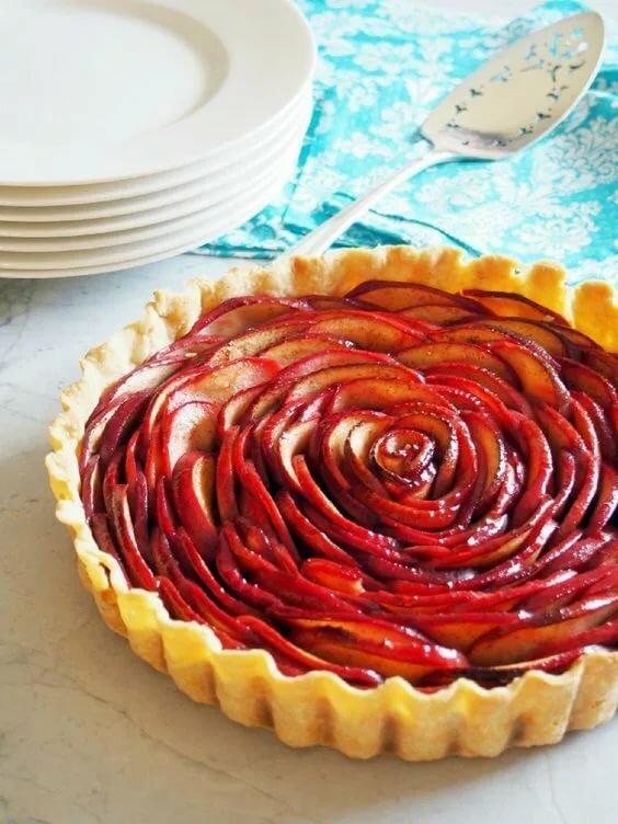 Картинки пирог роза ретушь