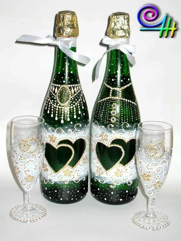 оформление шампанских бутылок в картинках второй