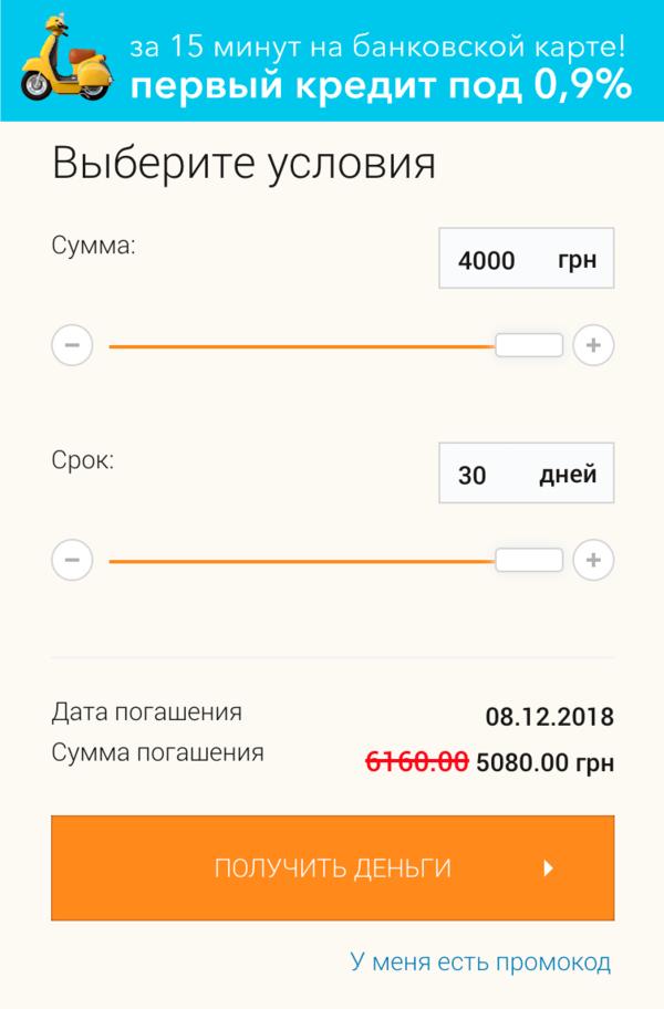 кредит от личного лица