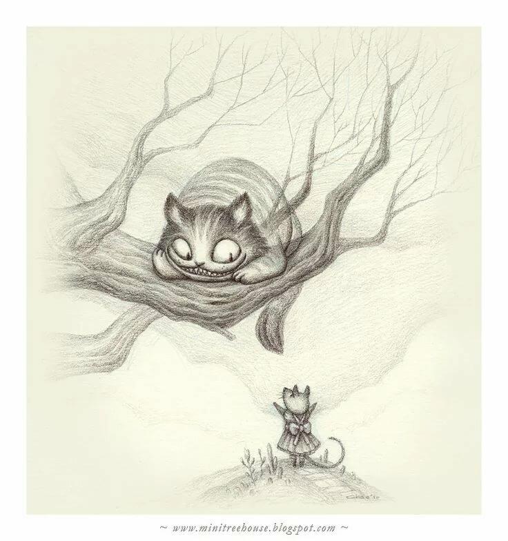 меня чеширский кот из алисы в стране чудес картинки карандашом хованском