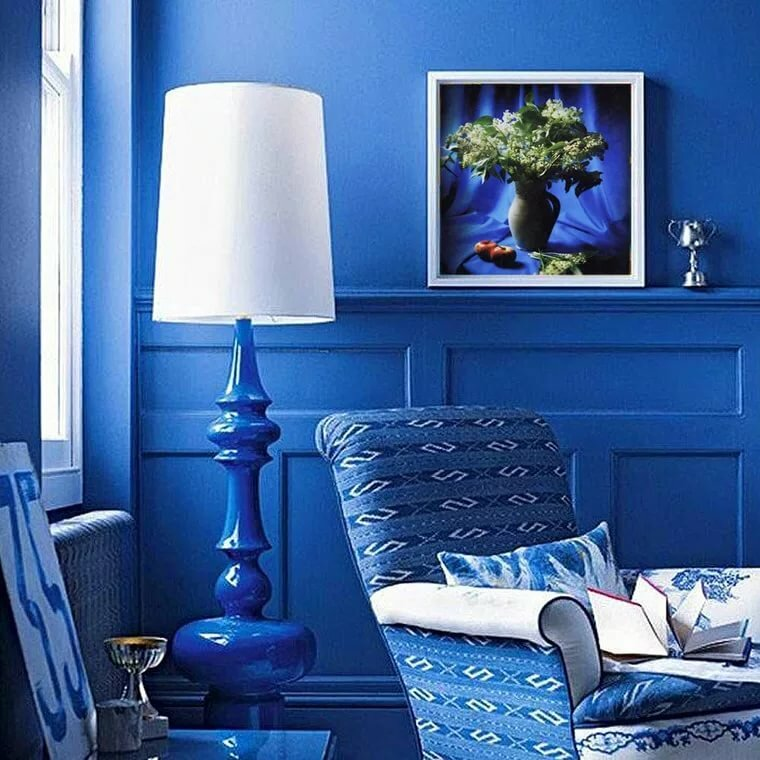 картинки на стену для интерьера в синем полезной информации