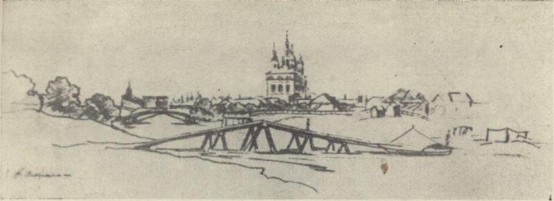 Астрахань. Рисунок Тараса Шевченко