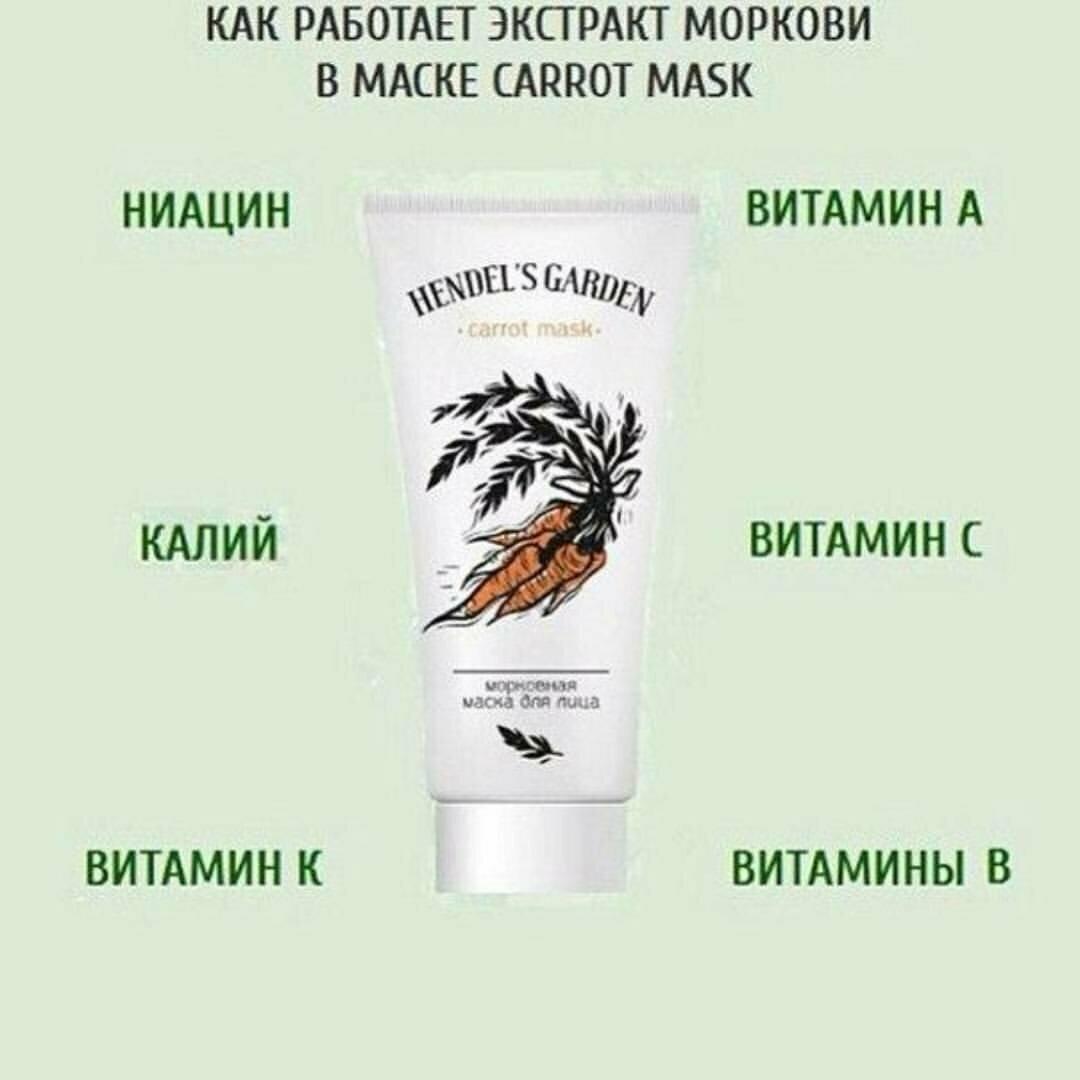 Carrot Mask Hendel морковная маска