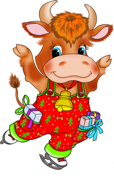 картинка из сказок корова размещения бегущей