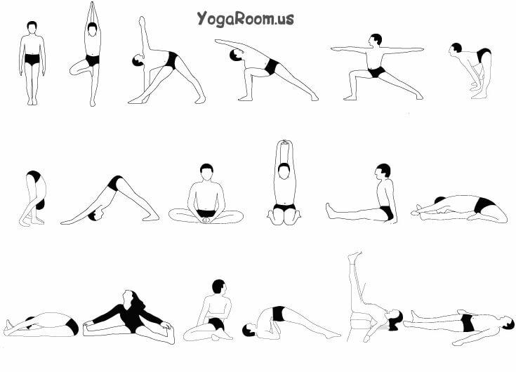 комплексы упражнений по йоге в картинках