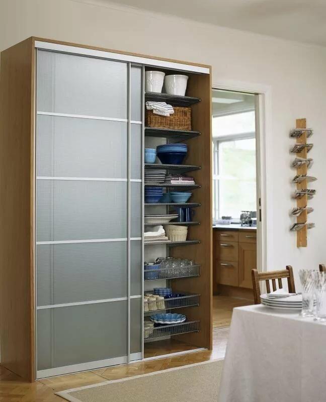 Шкаф купе на кухне в картинках