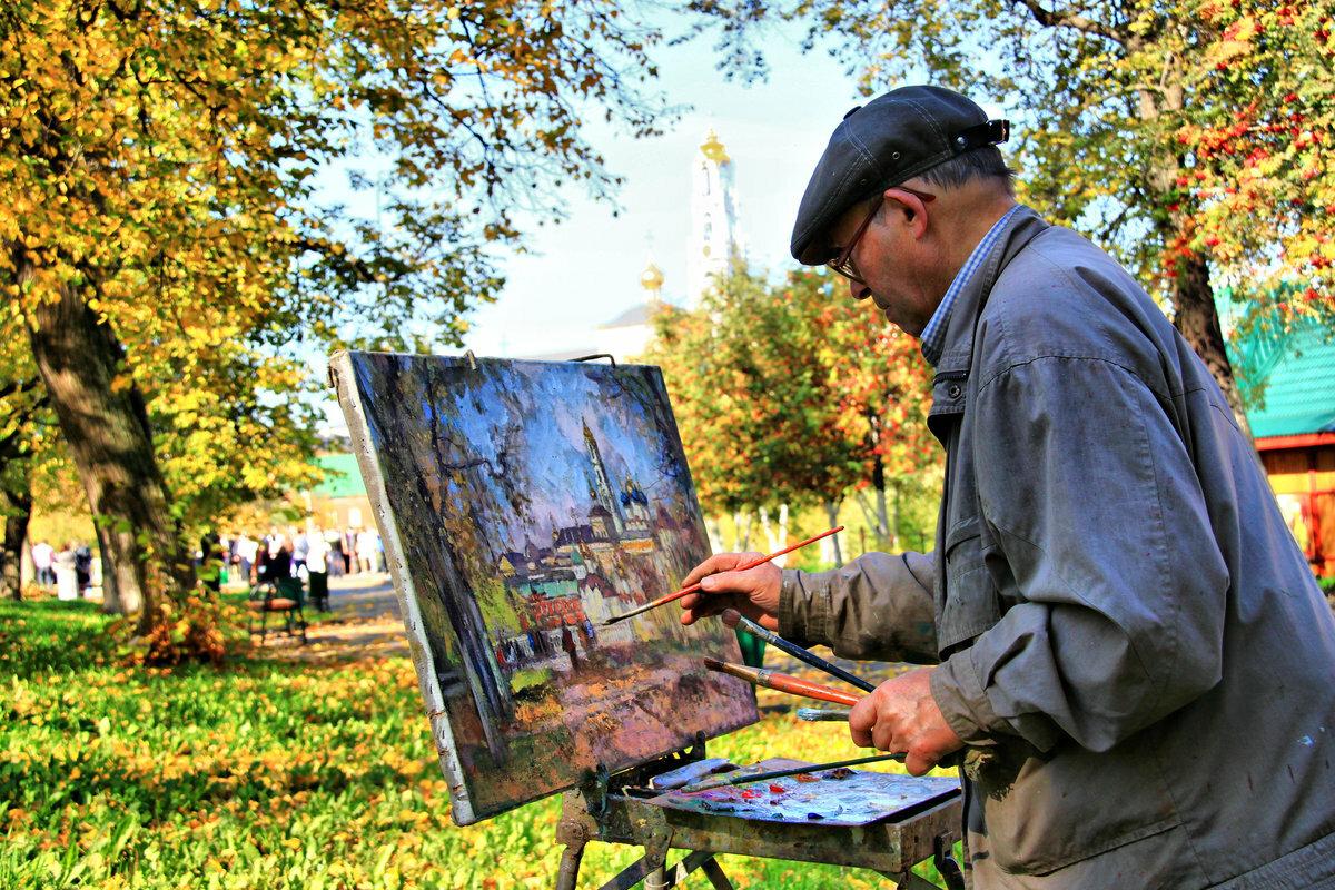 художник пишет картину картинки фотографии