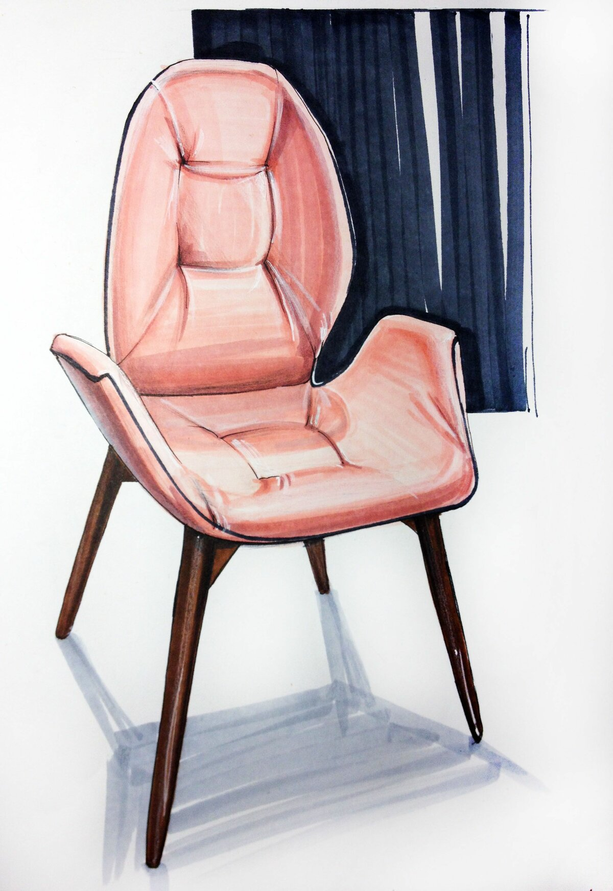 Картинки эскизы стульев
