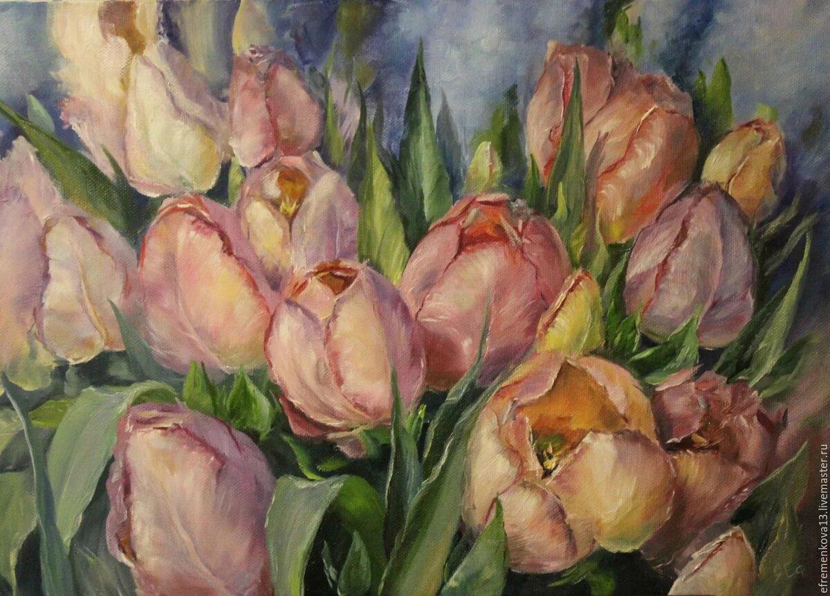 Картины постеры тюльпанов