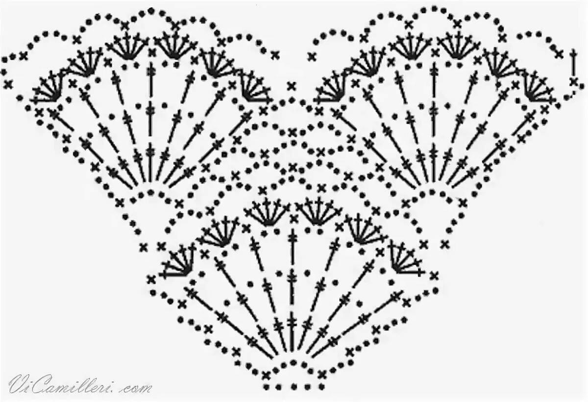Картинки шалей вязанных крючком