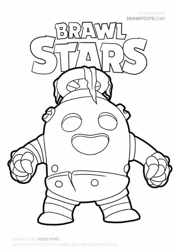 как нарисовать робо спайка из Brawl Stars - как