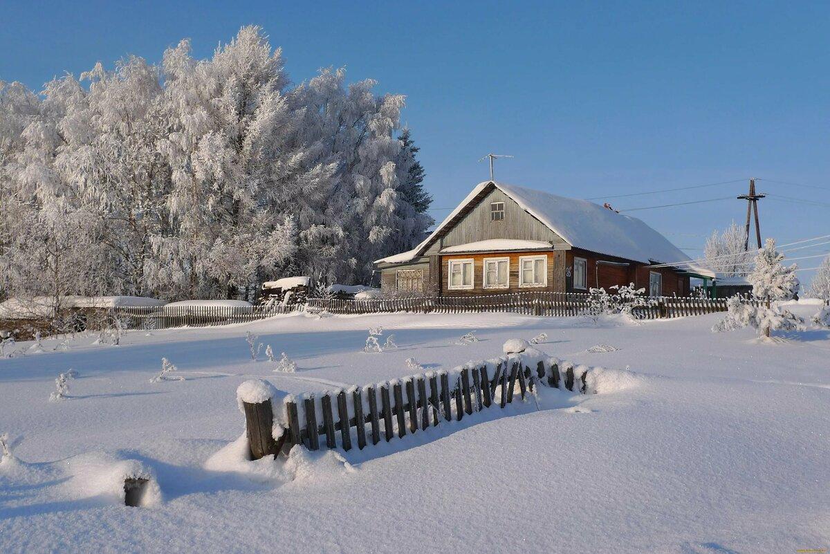 вкусно картинки для рабочего стола зима в деревне стараемся давать