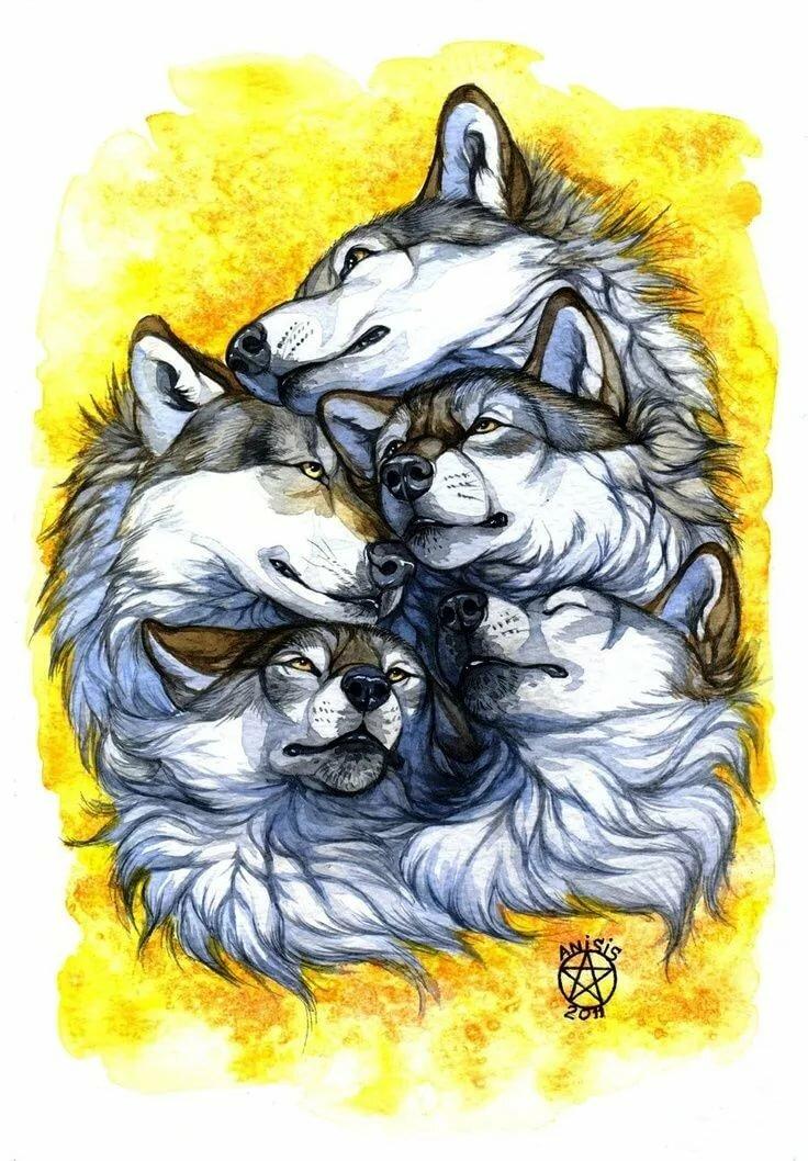 день особый тату волка и волчат картинки данном случае