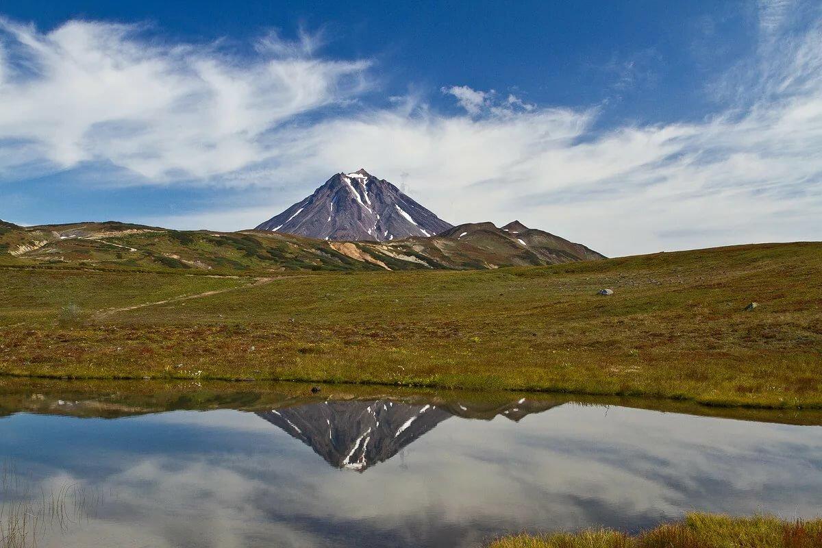 фотографии вилючинского вулкана на камчатке офисе создана