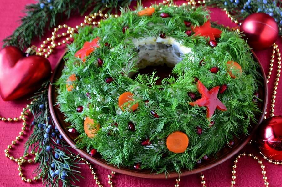 фото пазлах украшение салатов к новому году картинки прически для овального