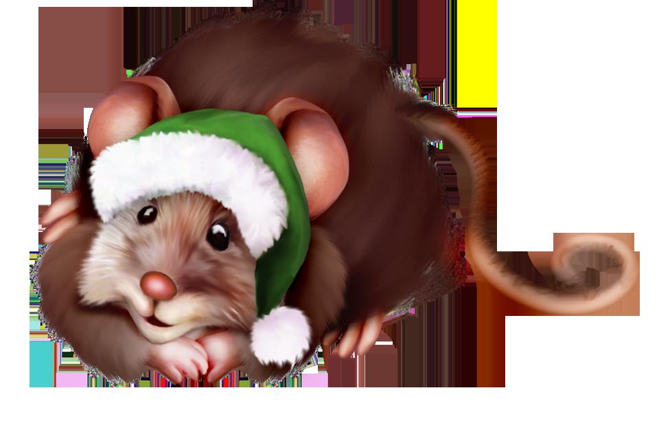 мышка в пнг новогодняя можно надевать форму