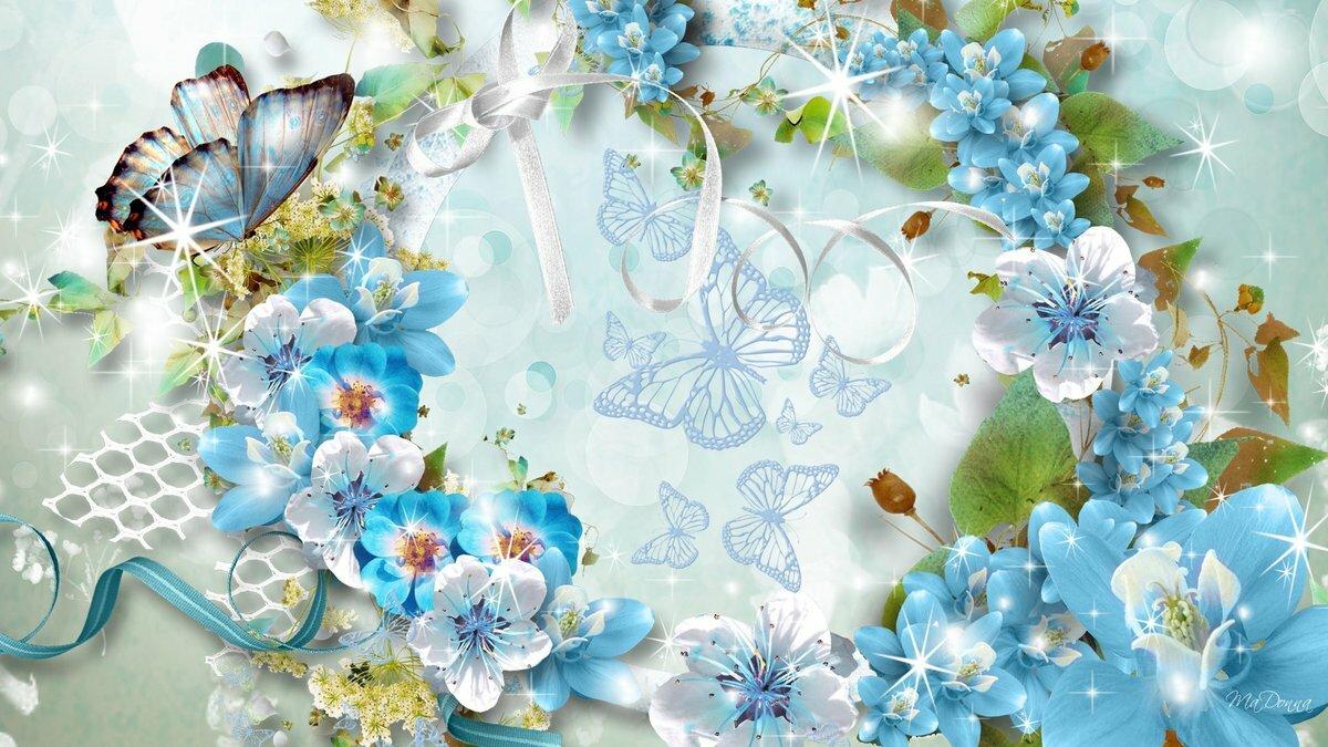 Открытки с днем рождения в голубом тоне, надписью забыл