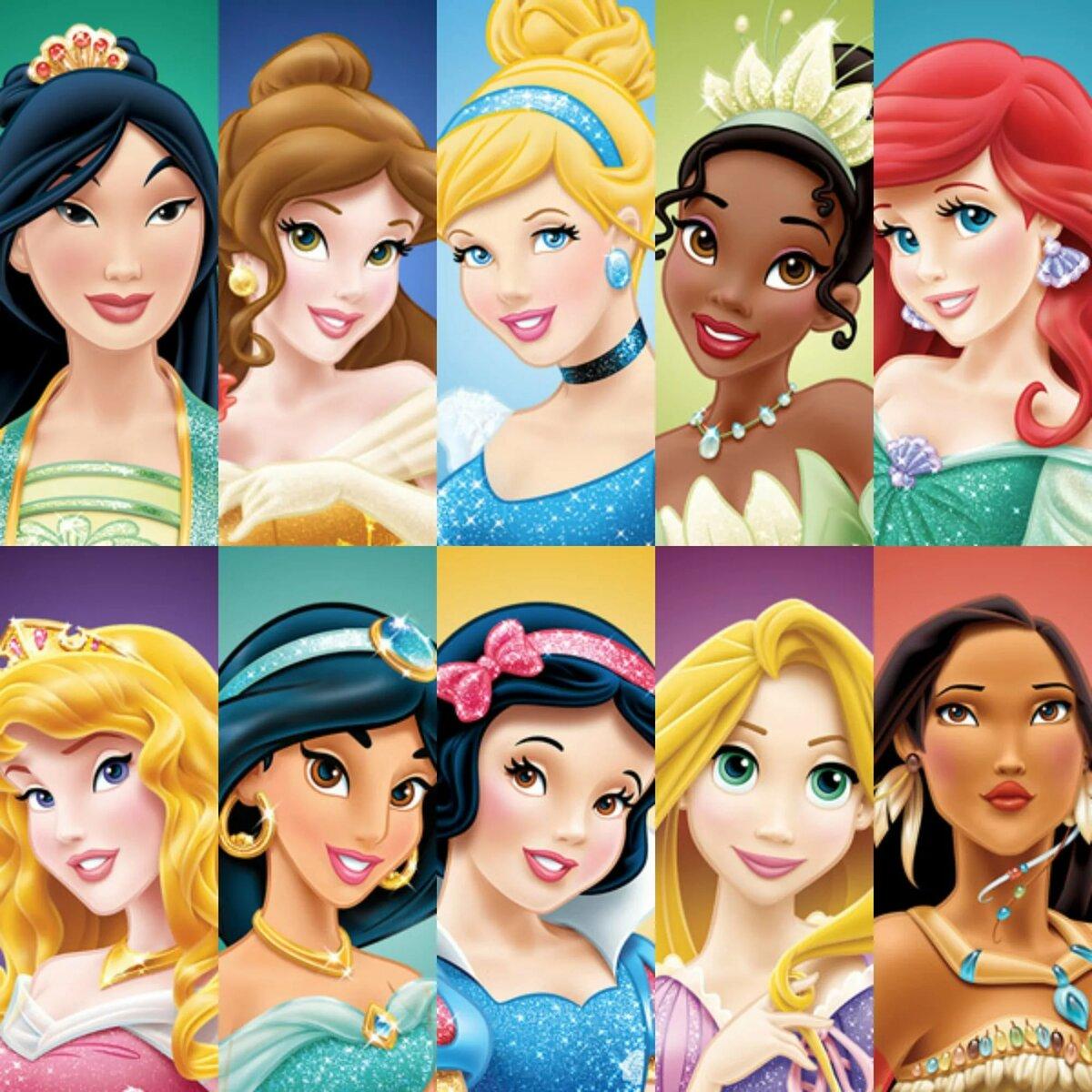 Дисней персонажи картинки принцессы все