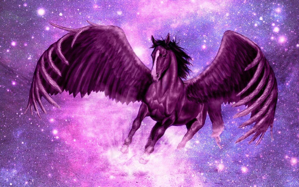 картинки про лошадей с крыльями живые