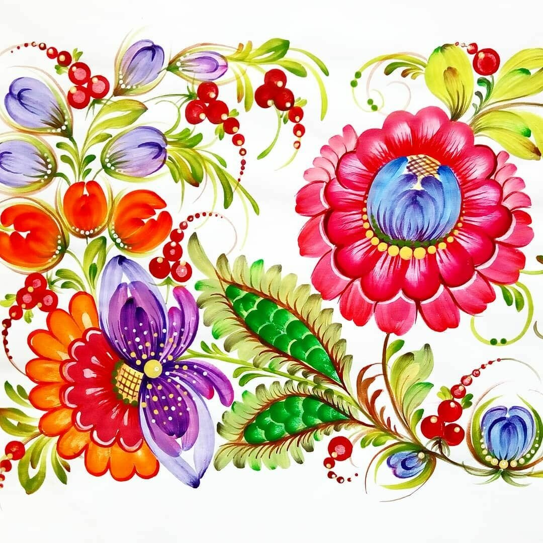 Петриковскую роспись открытки