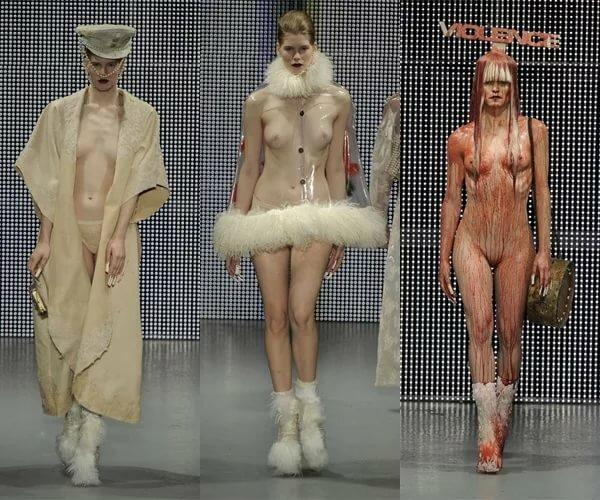 Шоу с голыми женщинами ходящими по подиуму — 10