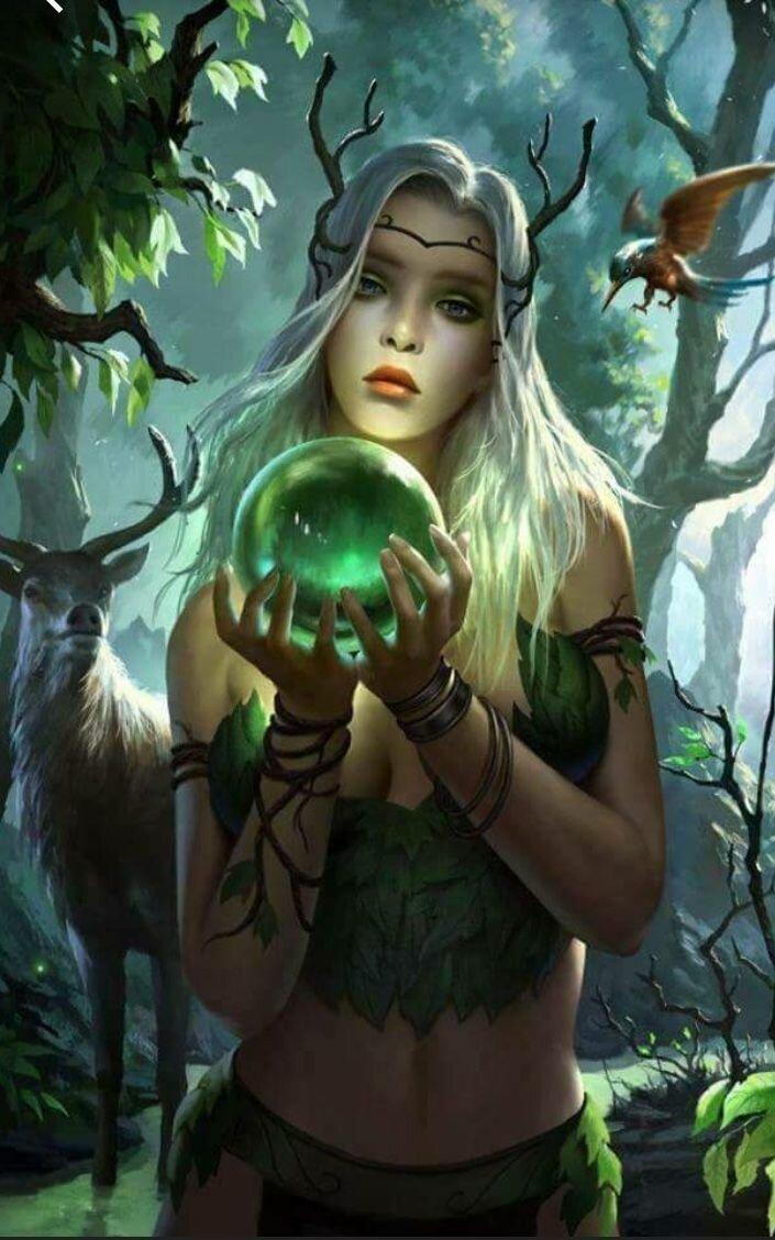 Рисунок эльфы в лесу, днем рождения