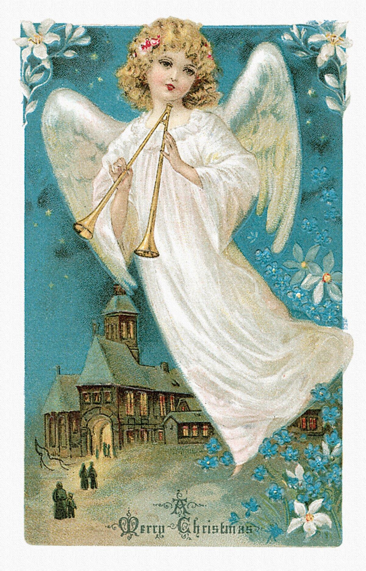 Картинки ангелы с рождеством, открытки для мамы