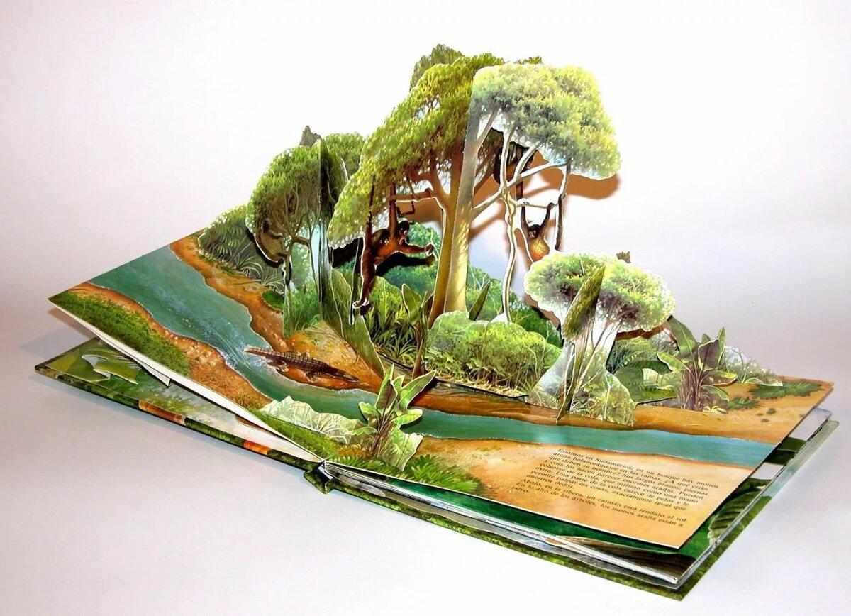 книги-панорамы с объемными картинками своими руками лев
