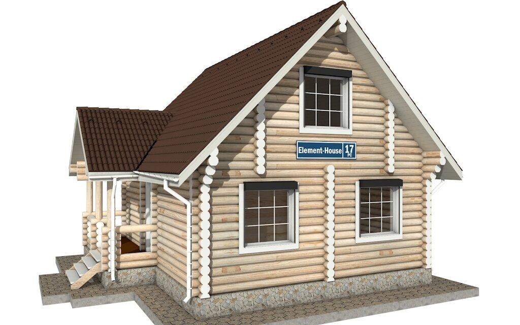картинки домов с мансардой из сруба два